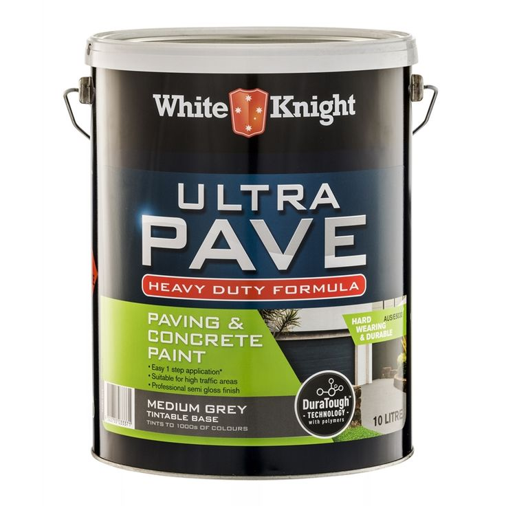 For Driveway - White Knight Ultra Pave 10L Medium Grey Heavy Duty Paving Paint