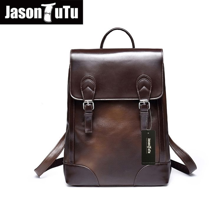 (29.51$)  Watch more here - http://ai0ns.worlditems.win/all/product.php?id=32710440857 - Hot retro school bags for teenagers Quality PU Leather Men Backpack Fashion laptop backpack mochilas B108