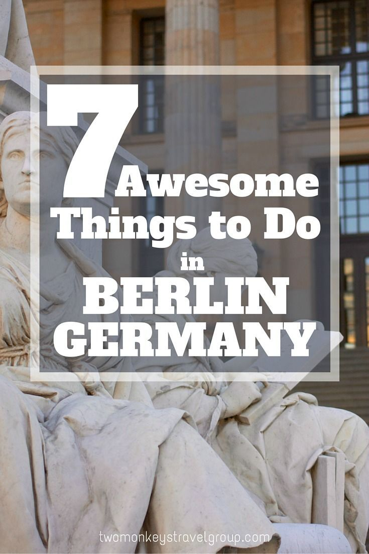 ​7 Awesome Things to do in Berlin, Germany. The true 'dark horse' of what is considered one of the most reserved countries in Europe, you'll be surprised at the number of things to do in Berlin, as well as its night life and cultural attractions. Unlike other big European cities like Rome or Paris, Berlin has only been known for its lifestyle since the nineties until today