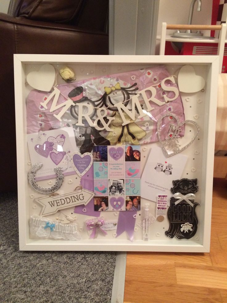 wedding memory box frame