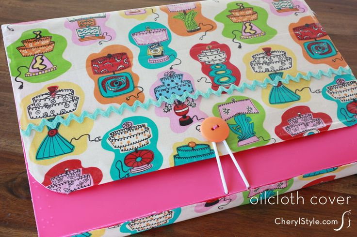 Make your own copycat oilcloth covers using iron-on vinyl | CherylStyle.com