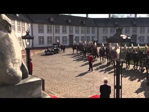 State Visit of king Willem-Alexander and Queen Máxima to Denmark, arrival