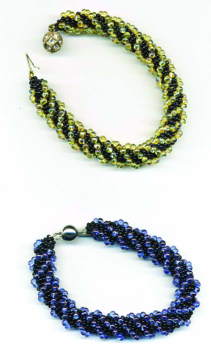 DUTCH SPIRAL  This bead stitch looks complex but is surprisingly easy to create.It has a slinky appearance and can be used to make a bracelet or necklace.  http://www.yellowbrickroad.ie/index.php/classes/view/saturday_workshops