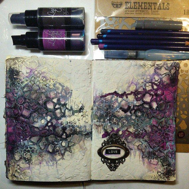 --- By night --- * Nocą * #journal #artjournaling #journal…   Flickr