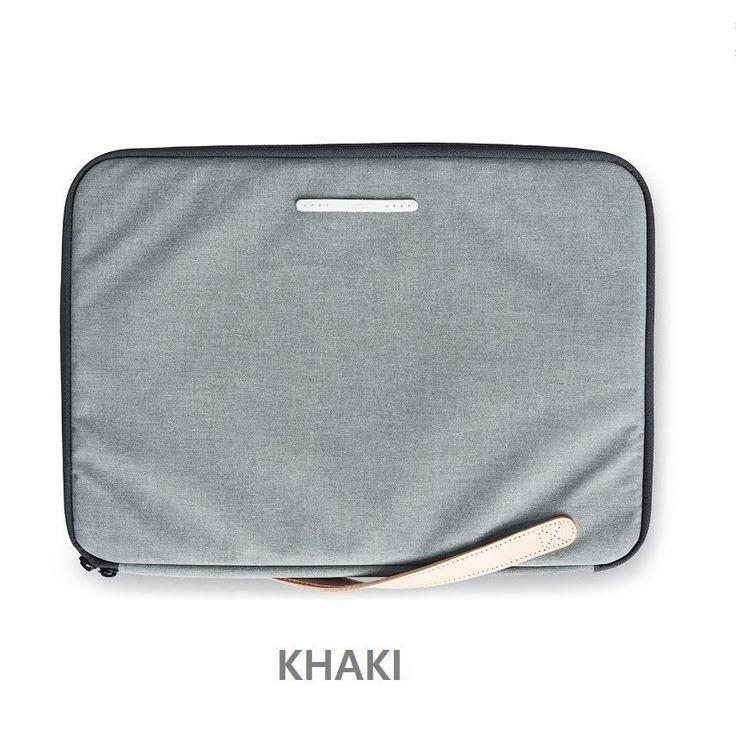 "RAWROW Zipper bag Men Women Casual Hand Bag Laptop Sleeve Case 15"" Pouch KHAKI #RAWROW"