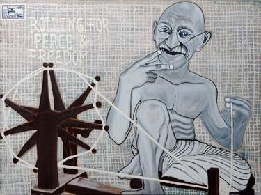 """Saatchi Art Artist swapnil thakre; Painting, """"Gandhi"""" #art"""
