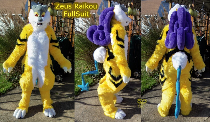 The Moment - by ShadowDestroyer. Zeus Raikou Pokemon Fullsuit Fursuit.