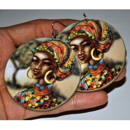 Náušnice Afričanka
