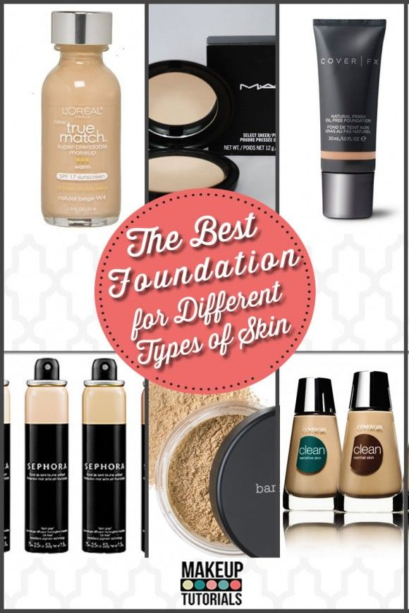 The best foundation for all skin type, must have makeup foundation. | http://makeuptutorials.com/best-foundation-for-different-skin-types/