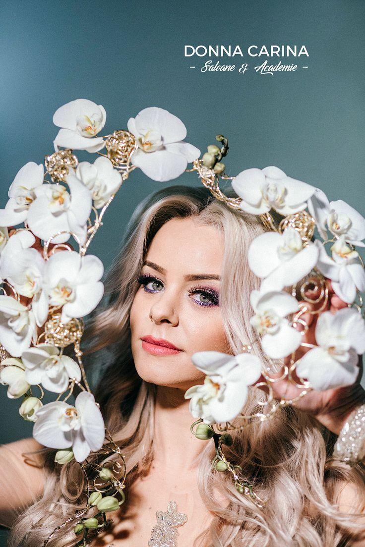 Coafuri si make-up mirese #donnacarina #bride #hairstyle #make-up #wedding #beautycreators