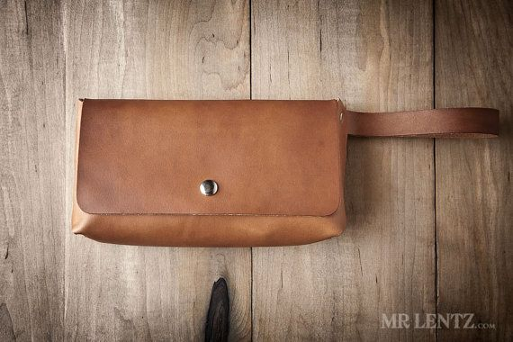 Leather Clutch leather purse brown leather clutch by MrLentz