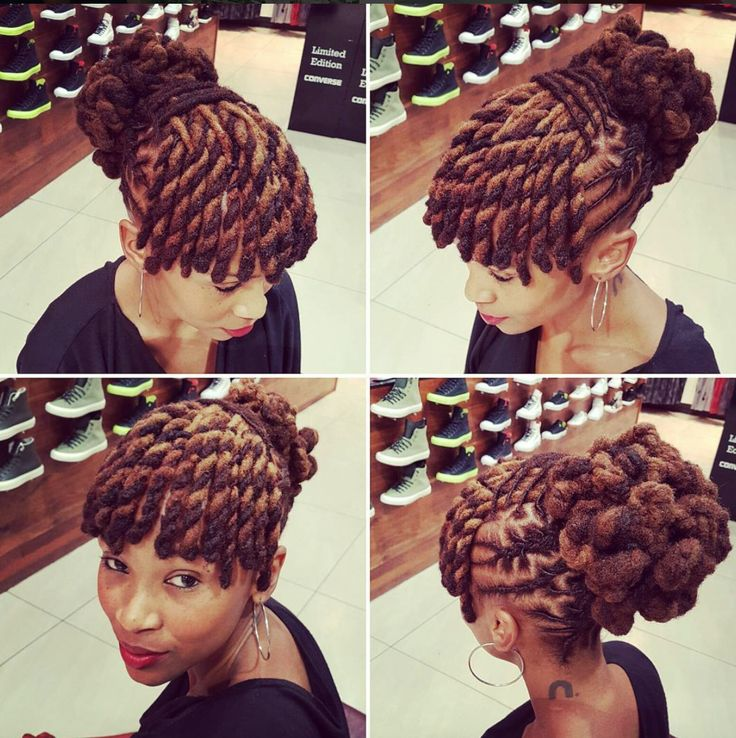 Dope loc style @clairemawisa  Read the article here - http://www.blackhairinformation.com/hairstyle-gallery/dope-loc-style-clairemawisa/