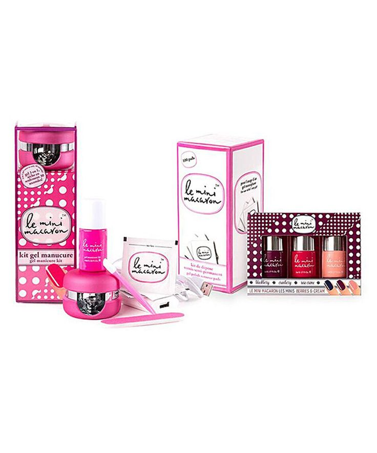 Look what I found on #zulily! Strawberry Pink Gel Nail Polish Set by Le Mini Macaron #zulilyfinds