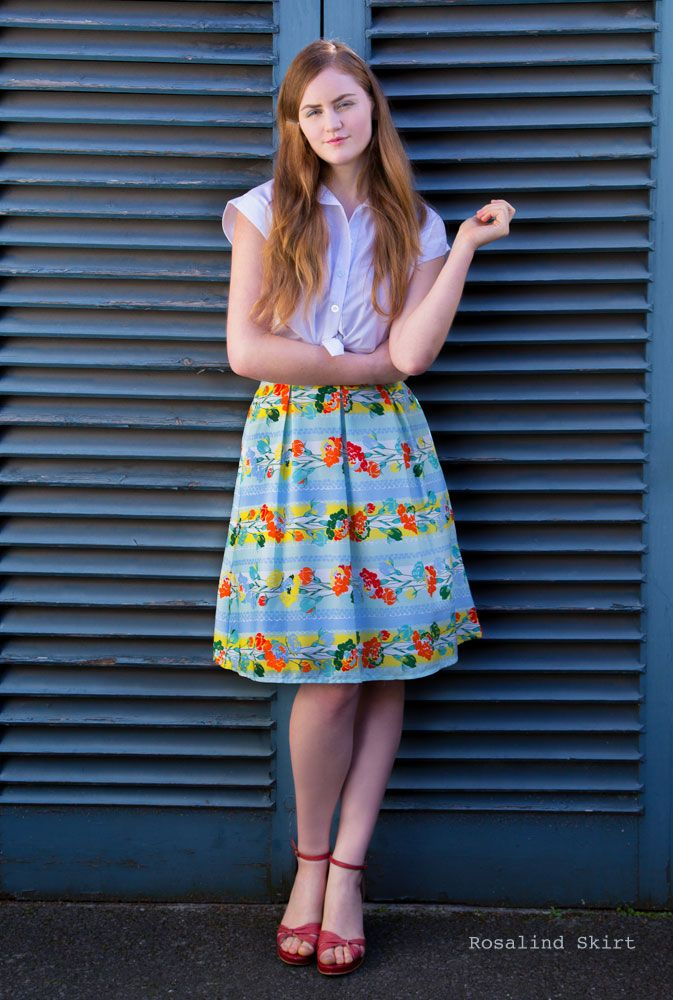 Weekend Doll | Rosalind Skirt   A pretty retro print skirt