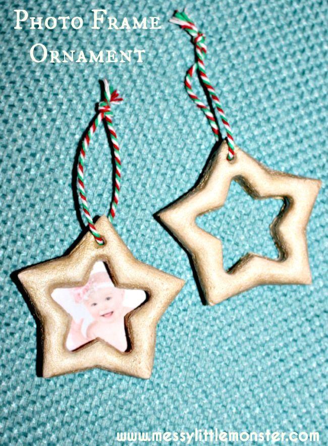 Salt Dough Ornament Star Photo Frame