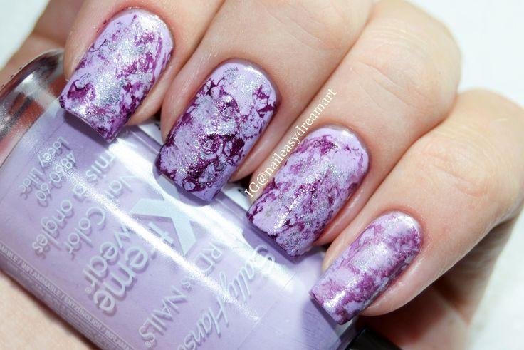 Purple Turquoise Marble Stone Nails | Малахитовый Водный Маникюр