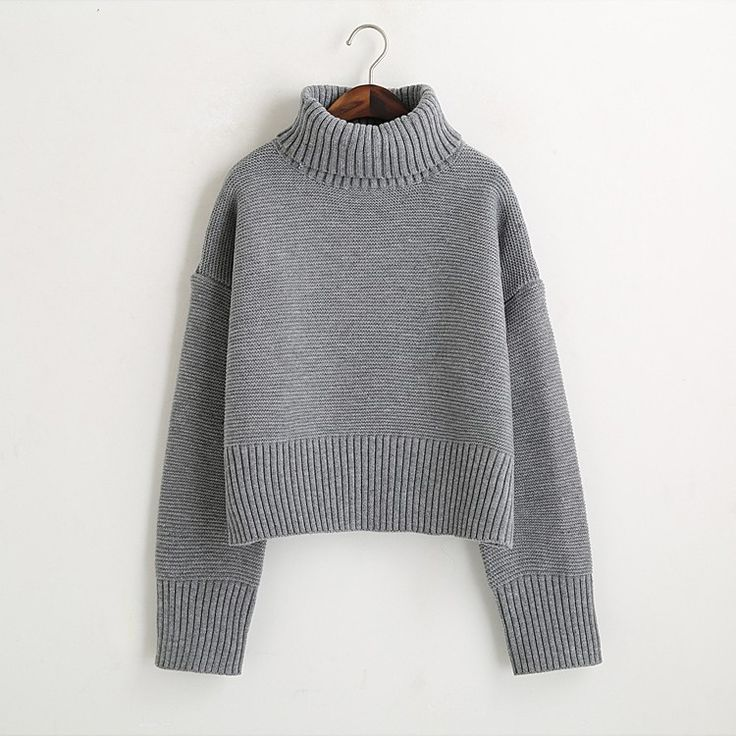 Turtleneck Sweater 2017 Women Vintage High Neck Wide Sleeve Knitted Thickening Warm Pullover Oversize Jumper Large Loose Sweater-in Pullovers from Women's Clothing & Accessories on Aliexpress.com | Alibaba Group