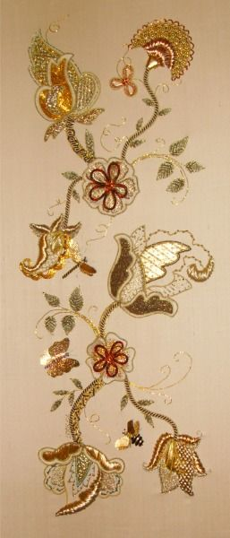 Embroidery . Gorgeous Goldwork!