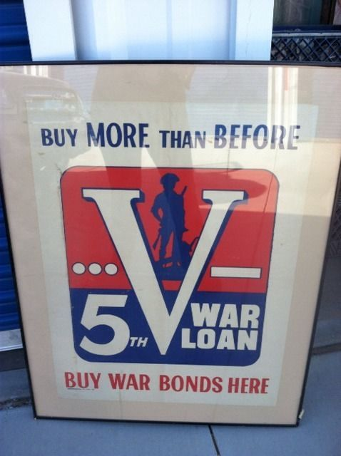 Original WWII Poster,Buy More Than Before ; Buy Bonds,Dated 1944 In Glass Frame   Collectibles, Militaria, WW II (1939-45)   eBay!