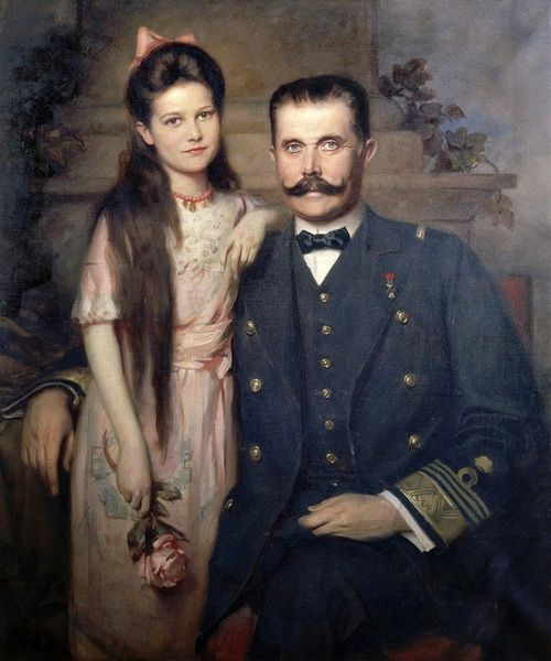 Archduke Franz Ferdinand of Austria and his daughter Sophie