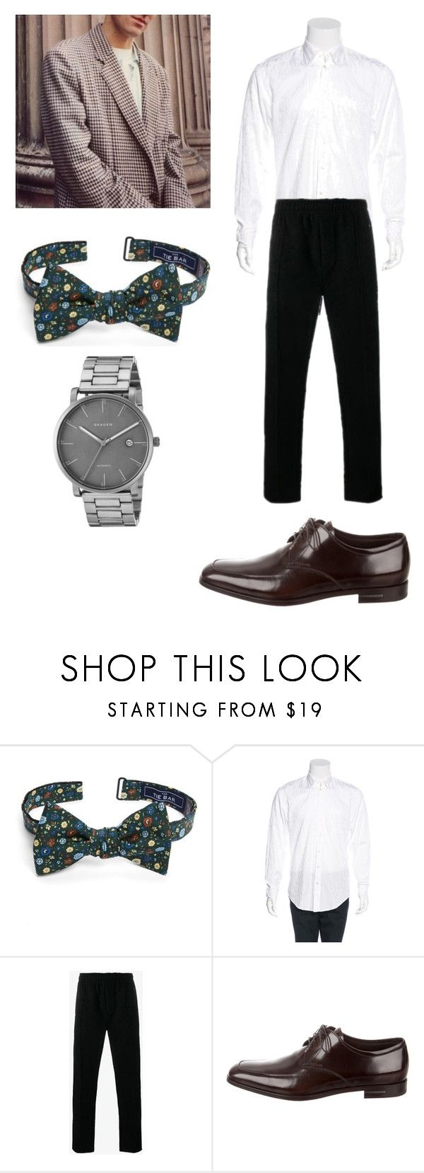 """Australian designer"" by sparklepieceblog on Polyvore featuring The Tie Bar, Our Legacy, Prada, Skagen, men's fashion and menswear"