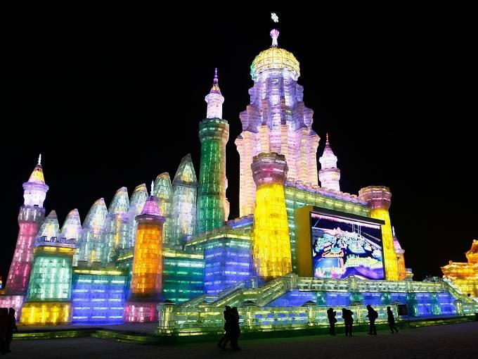 Ice Castle in Harbin, China Ice Festival