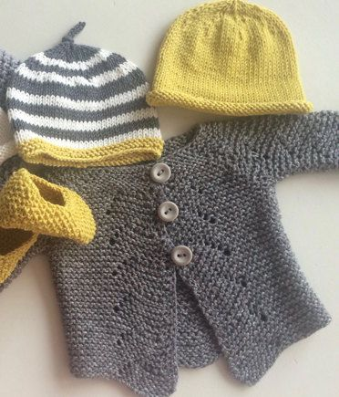 Baby cardigan and hat knitting project shared on the LoveKnitting Community