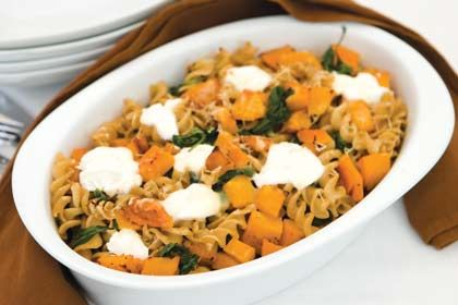 Butternut Squash, Spinach and Pasta Bake | Main Course Recipes | Rosemary Conley TV