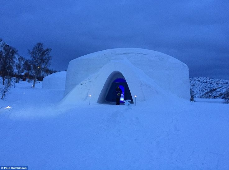 Icy welcome: Although the exterior of the Snow Hotel in Kirkenes, Norway, is freezing, there are sleeping bags in the rooms to warm up inside