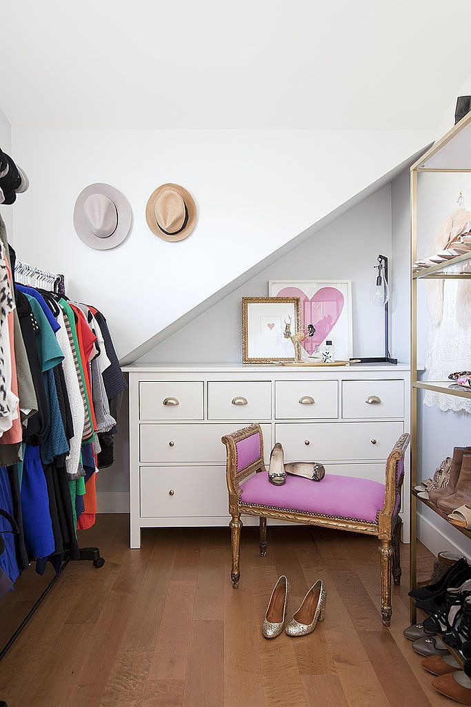 convert a small second bedroom into a dream closet and dressing room