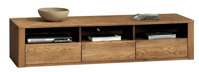 Orlando Amber Oak TV Stand - Three Drawers