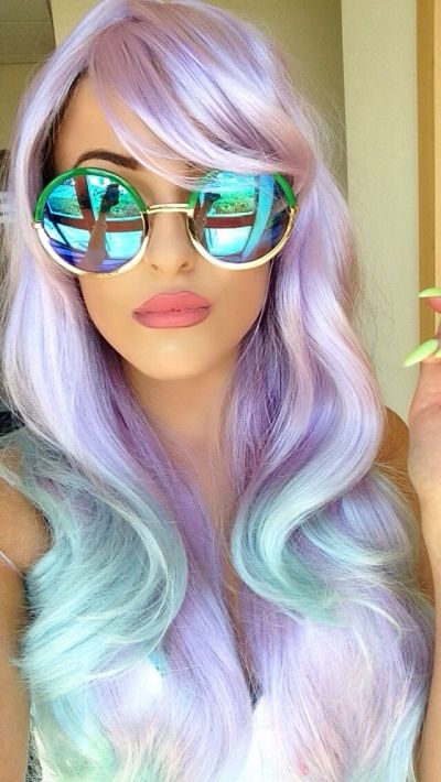Mermaid colours for a different Halloween outfit, so fashionable and cute. You want a cool touch? Wear mirrored sunglasses: http://www.smartbuyglasses.co.uk/designer-sunglasses/Spektre/Spektre-Metallo-Rotondo-Silver-(Blue-Mirror)-292342.html