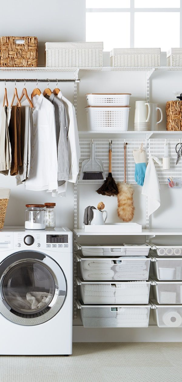 Laundry Day Just Got A Whole Lot Easier Create A Custom Shelving