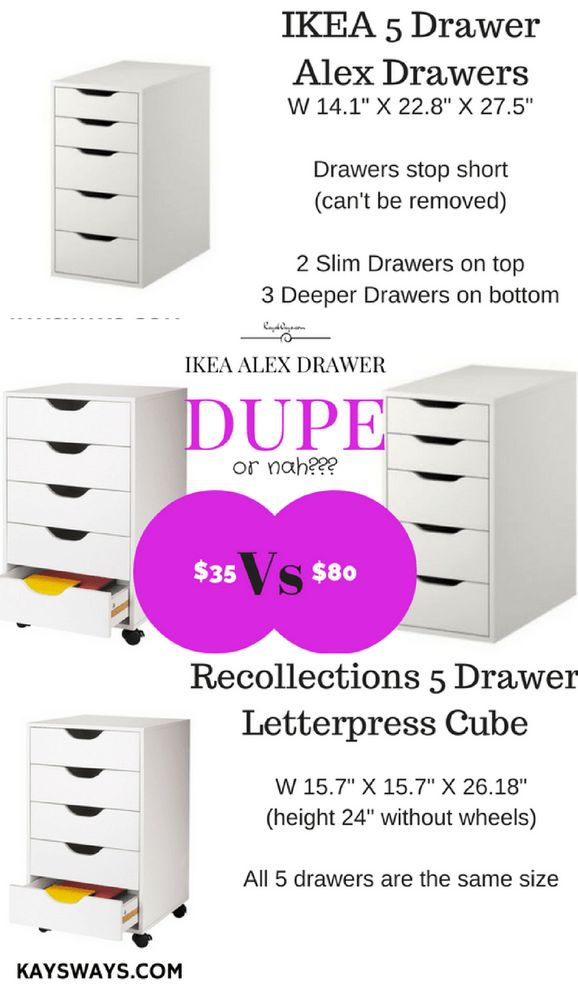 IKEA Alex Drawer Dupes + Other Affordable Makeup Storage & Organizition Tips!