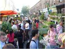 "Columbia Road began its life as a pathway along which sheep were driven to the slaughterhouses at Smithfield. It's now a vibrant Sunday flower market, http://bit.ly/HV2rHC, and the street is brimming with solely independent shops. ""I'll give ya two fer a fiver."""