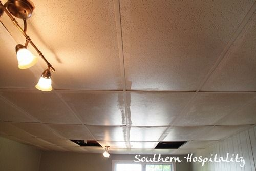 changing out drop ceiling tiles