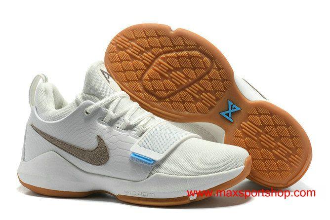 "Nike PG 1 ""Ivory"" Light Brown Basketball Shoes For Men"