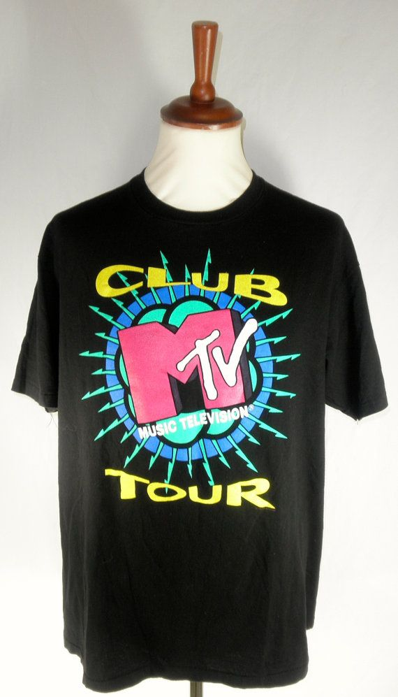 vintage mtv tshirt club mtv tour tee 1991 excellent