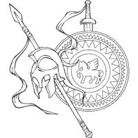 free ancient greece coloring pages - photo#7