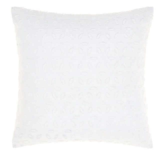 Linen House Naturals Rosie 45x45cm Filled Cushion White