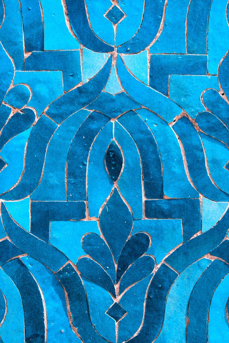 Morocco fine art Photography - Blue Tile, photography print signed by Likasvision on Etsy