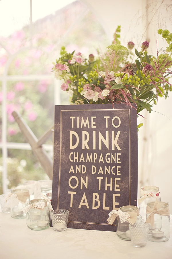 Fun wedding signage captured by Sarah Gawler | onefabday.com