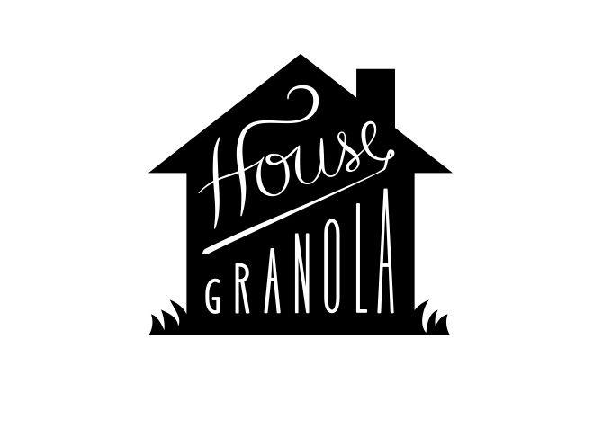 Kristen Haff / repinned on Toby Designs - logo - logo design - branding - logo mark - house granola logo - silhouette logo