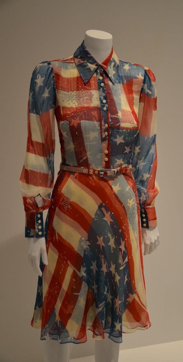 Flag Dress - by designer, Catherine Malandrino  Politics of Fashion | Fashion of Politics - An exhibition  Guest Curator: Jeanne Beker & Design Exchange Curator: Sara Nickleson.