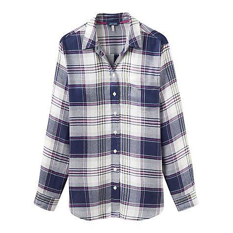 Buy Joules Laurel Shirt, Navy Multi Check Online at johnlewis.com