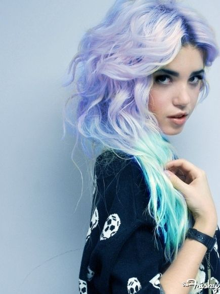 Creative and colourful! Don't be afraid to colour co-ordinate in every way! #HairMeetWardrobe #hair #fashion