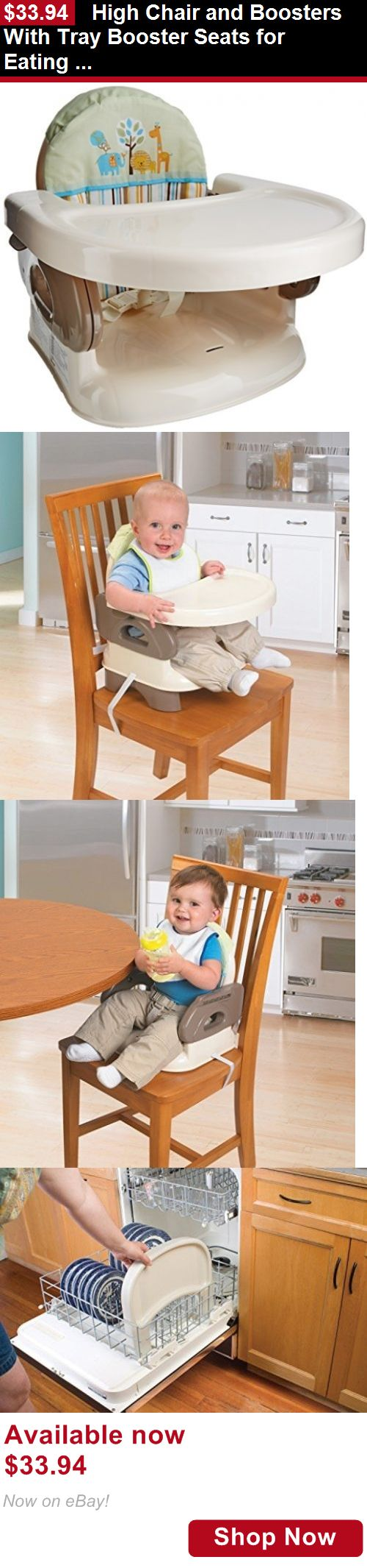 Booster Chairs: High Chair And Boosters With Tray Booster Seats For Eating Portable Folding BUY IT NOW ONLY: $33.94
