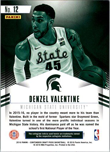2016-17 Panini Contenders Draft Picks Class Reunion #12 Denzel Valentine RC Card