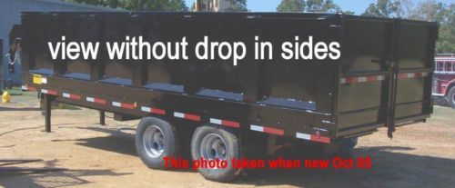 HYDRAULIC DUMP TRAILERS for sale up to 45 yrd, 20,000#capacity, 2' & 4' drop in sides, electric remote, locking battery storage #TX #Texas New&Old photos.Parked a long time. Call Larry (we have 4 of these) Have posted some old pics I took when new showing all the details. More Photo's: facebook.com/media/set/?set=a.882789911733097&type=1&l=ef8a313425 shreveport.ebaycl...