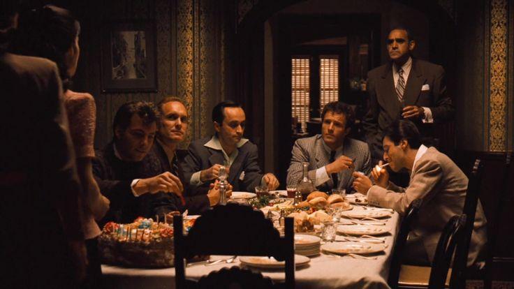 Carlo Rizzi, Tom Hagen, Fredo Corleone, Sonny Corleone, Sal Tessio and Michael Corleone